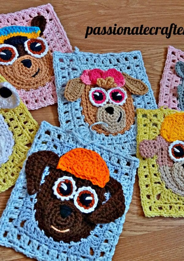 How To Make Your Paw Patrol Granny Squares- Puppie Blanket Look Amazing