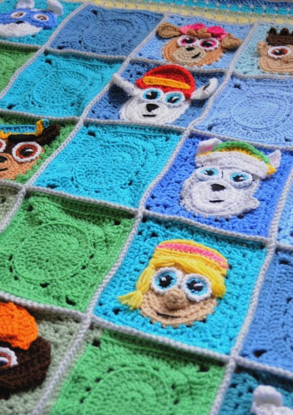 crochet paw patrol appliques free pattern