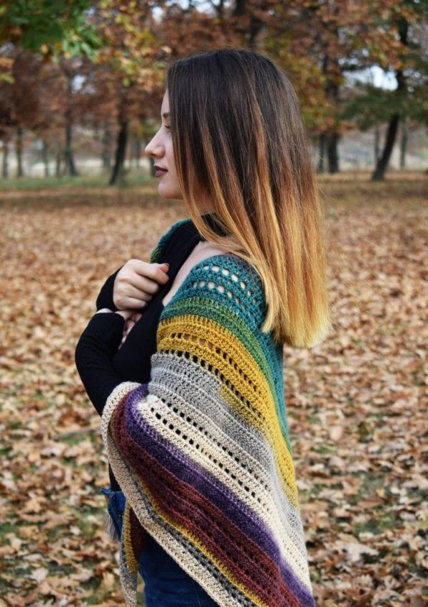 Warlock triangle shawl