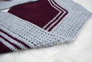 crochet bean stitch scarf free pattern