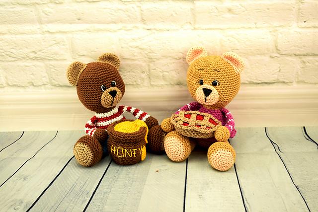 Crochet bear amigurumi pattern | Amiguroom Toys | 427x640