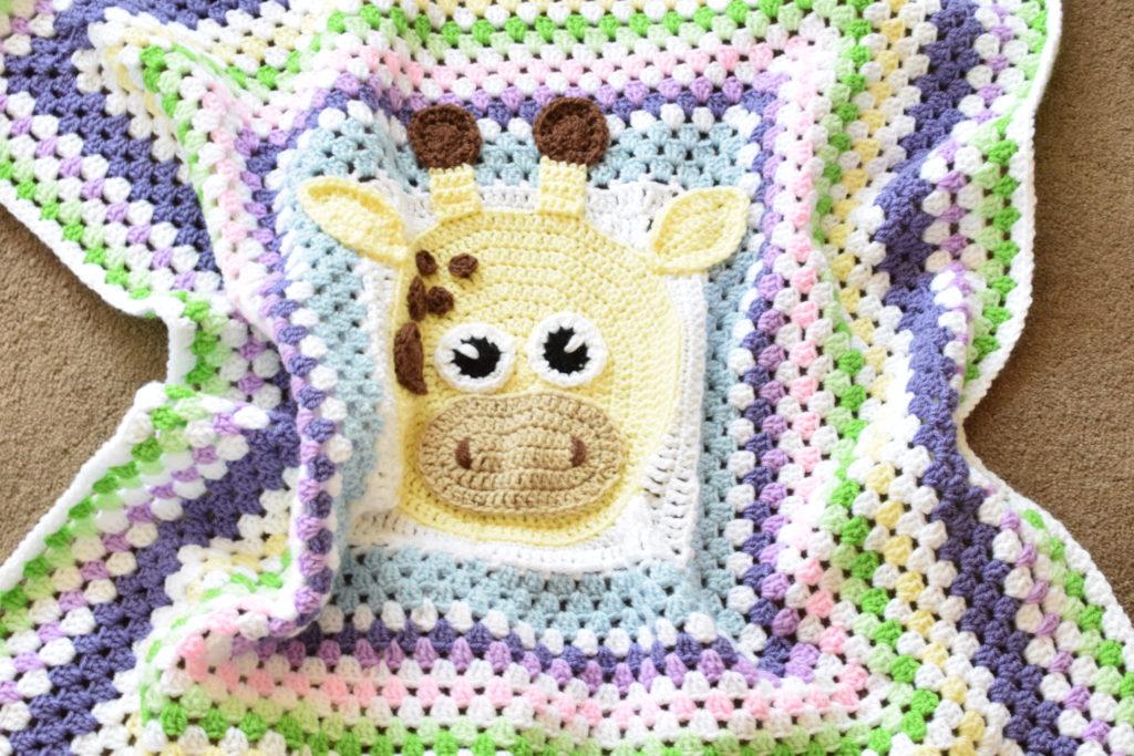 Granny stitch crochet blanket turned into granny square
