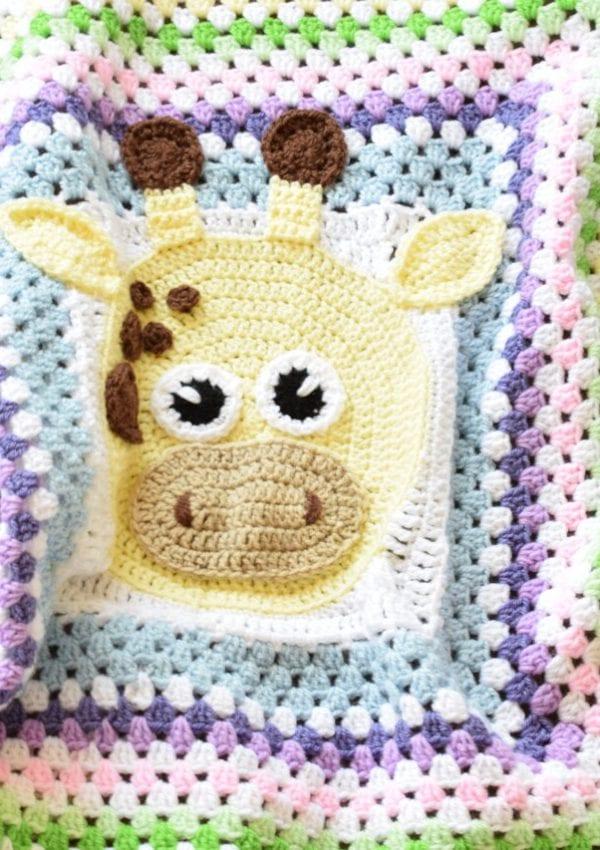 How to turn granny stitch blanket into modern giraffe granny sqaure blanket