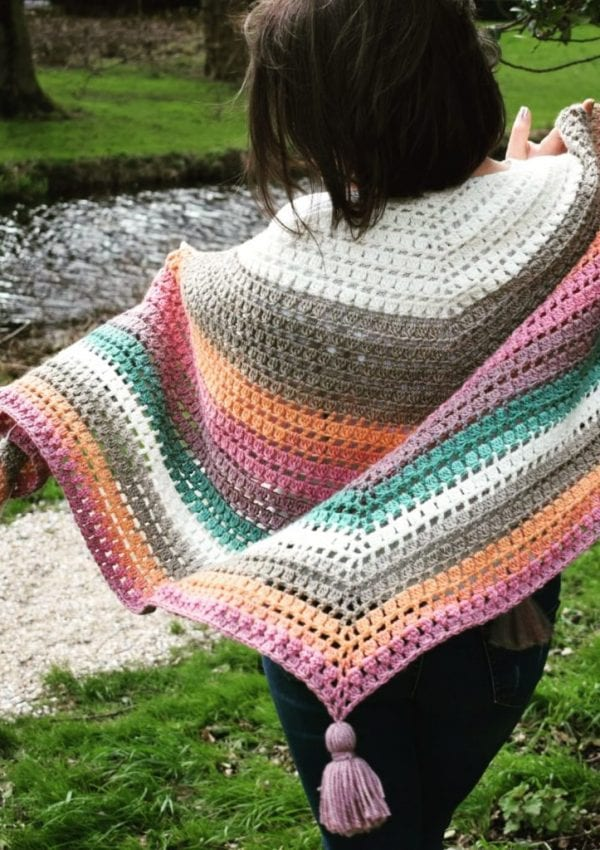 easy crochet shawl free pattern