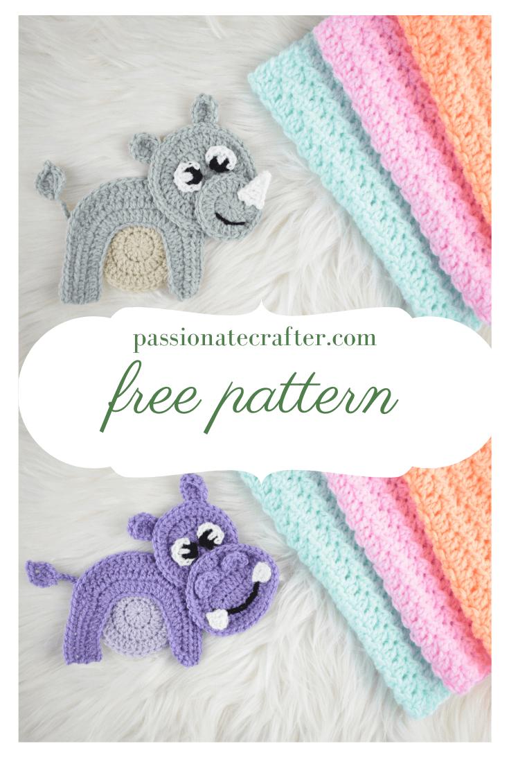 Hippo Amigurumi In Bikini - Free Crochet Pattern • Craft Passion | 1102x735