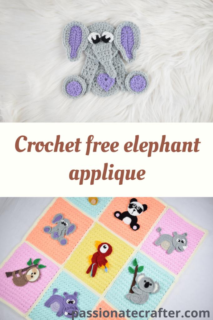 Elephant Applique pattern by Carolina Guzman | Elephant applique ... | 1024x683