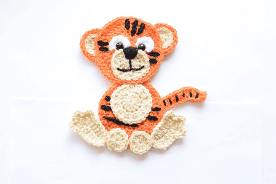 Free Crochet Tiger applique pattern
