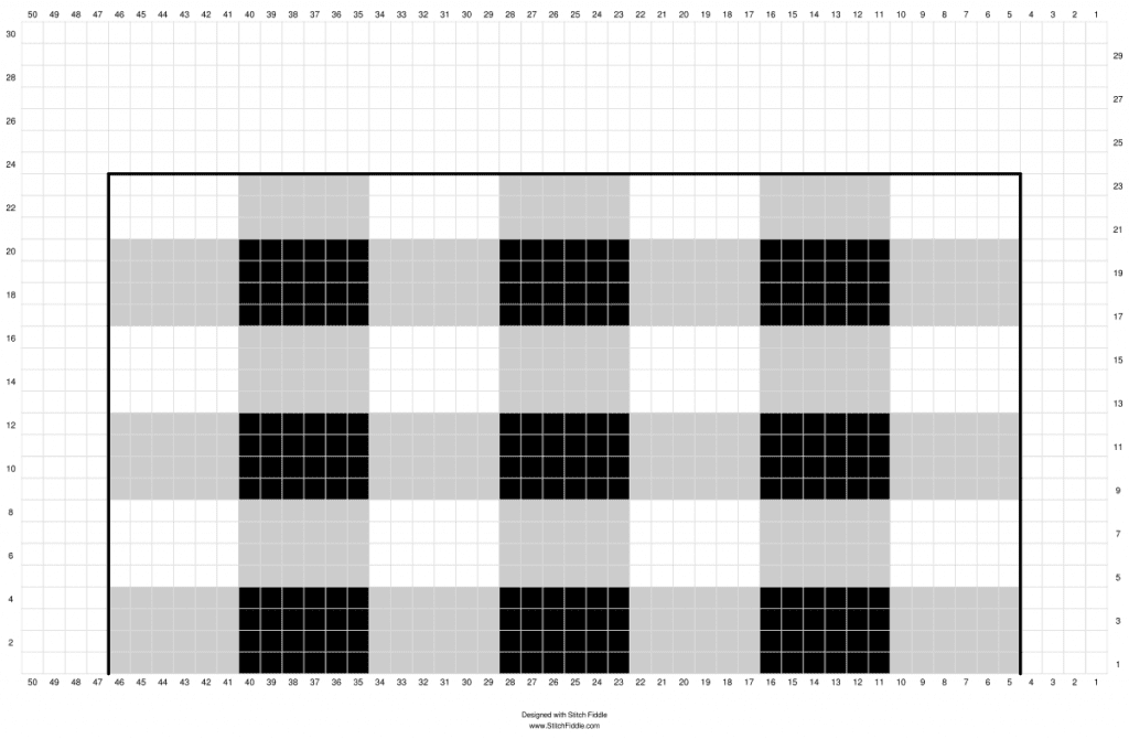 free crochet buffalo plaid chart
