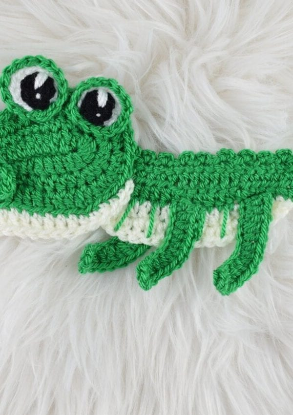 Free Crocodile applique pattern