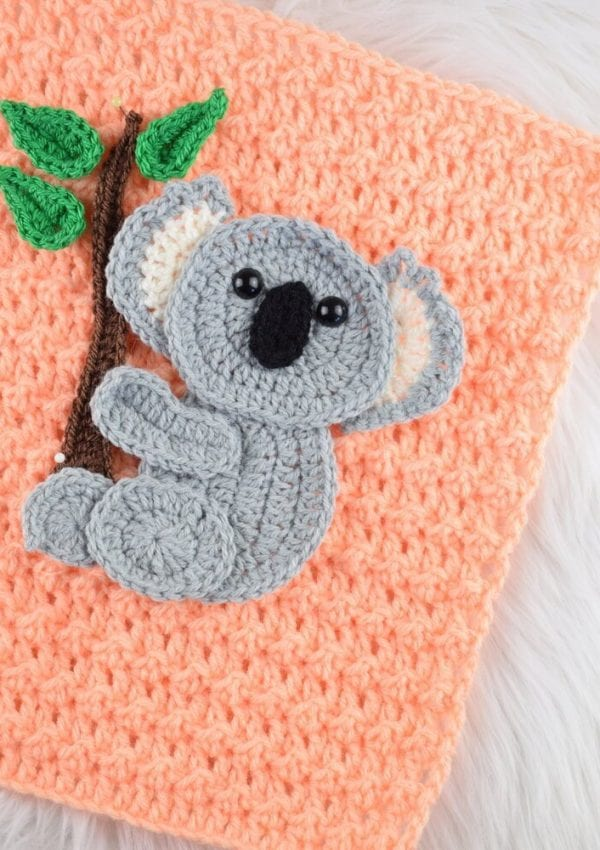 Free crochet Koala applique pattern