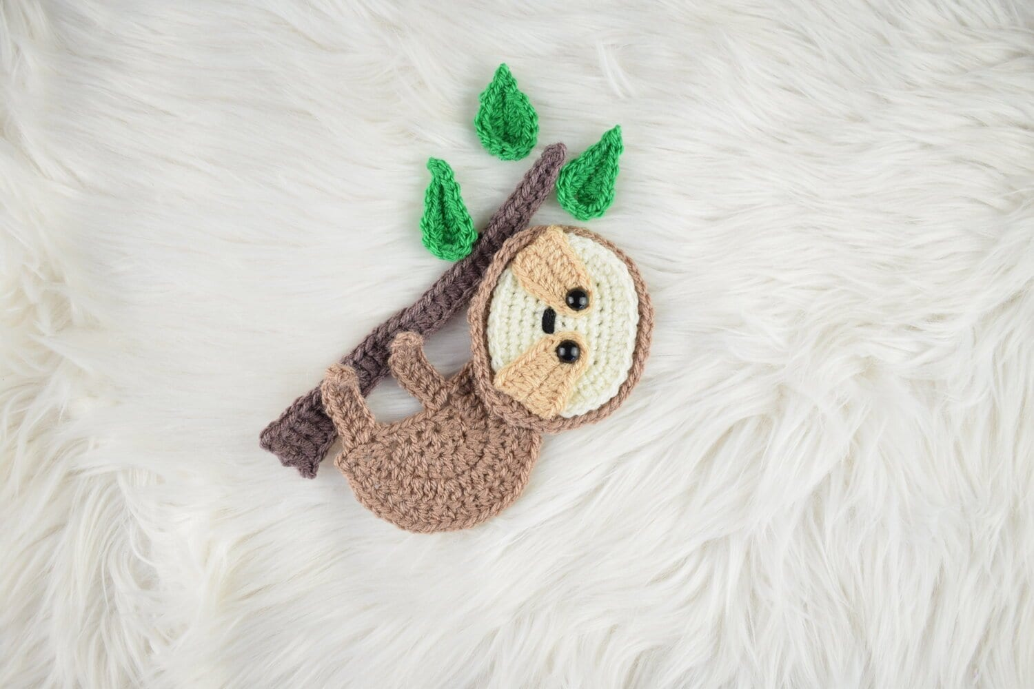 free crochet sloth applique pattern