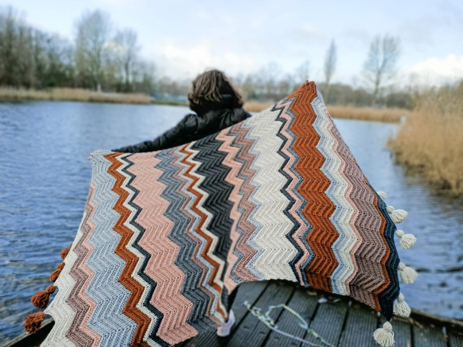 crochet chevron blanket free pattern