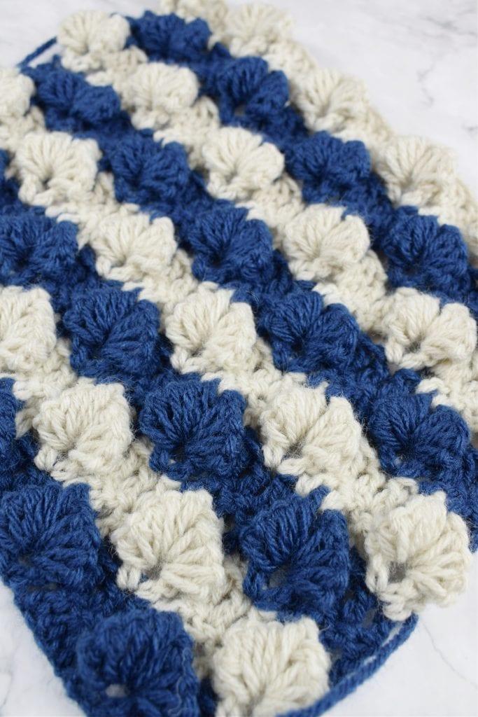 Crochet 3D leaf stitch free pattern