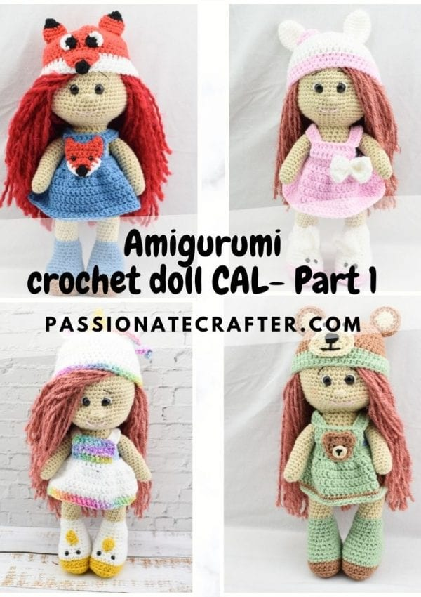 Amigurumi crochet doll CAL-crochet along-Part 1